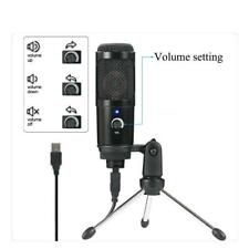 5V Cardioid USB Condenser Microphone for Audio Studio Recording