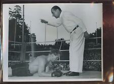 Original September 9 1952 Conny Rux vs Karal Sya German Boxing Wire Photo