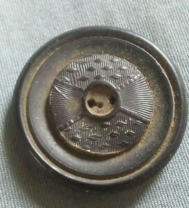 Old Antique Pressed Design Horn Button.