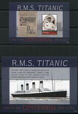 St Vincent Mayreau 2012 Titanic Katastrophe Ship Navi Bateaux Schiff MNH
