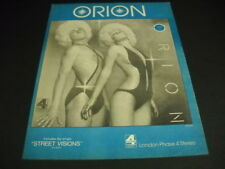 Orion wild looking mouthless male and female 1975 Promo Poster Ad mint cond