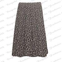 New Womens Elasticated Waist Ladies Printed Midi Skirt Plus Size 12-26