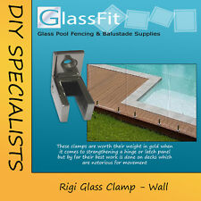 Pool Fencing Glass Wall Clamp 316 Stainless Steel frameless