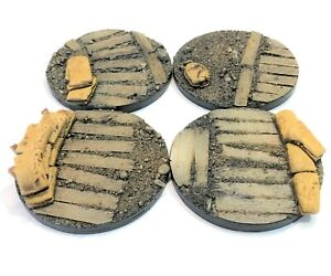 65mm War Zone Trench, resin bases, Sci-fi fantasy DKK Qty 1-5 unpainted