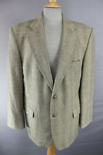 CLASSIC BRITISH MADE MARKS & SPENCER WOOL/CASHMERE LIGHTWEIGHT TWEED JACKET 42IN