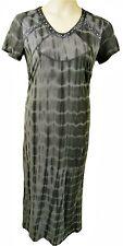 SHORT SLEEVE TIE DYE LONG STRETCH JERSEY DRESS, JUNIPER ROSE SIZE UK 10,  LD318