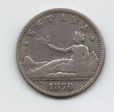 Gobierno Provisional  1 Peseta  1870  **18-70     NL210