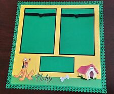 "Disney Pluto Scrapbook Page 12""x12"" Layout Disneyland Shadow Box, Frame 4 Gift"