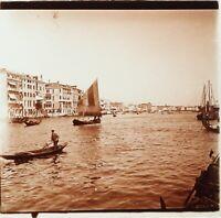 Italia Venezia Depuis Santa Maria Della Salute, Foto Stereo Placca Lente Ca 1910