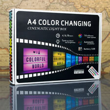 A4 Size Cinema Light Box RGB Color Changing Letter Cinematic Lightbox W/ Remote