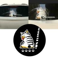 Car Windshield Back Window Wiper Stickers Cat Dog Moving Stickers Tail Styl S1G3