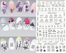 1x Nail Art Letter Finger Sticker DIY Water Decals Nails Art Transfer Sticker