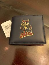 NWT - $178 COACH DECEMBER PARTY ANIMAL MEN'S WALLET LIMITED EDITION in Navy