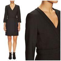 """NWT $428 Diane Von Furstenberg DVF """"Taryn"""" Solid Wrap Dress Women Size 0"""