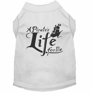Mirage Pet Products A Pirate's Life Embroidered Dog Shirt White Lg (14)