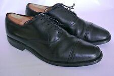 Allen Edmonds Byron Men's Black Leather Cap Toe Oxford Shoes Vibram Soles 11 C