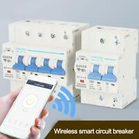 WiFi 4P Smart Circuit Breaker Automatikschalter Überlastschutz Favor