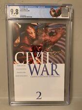 Marvel Civil War #2 CGC 9.8 NM/M Custom Iron Man Label!