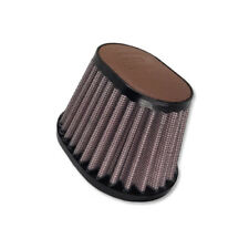 DNA Oval Dark Brown Leather Top Air Filter, Inl: 44mm, Len:87mm, PN:OV-4400-L-DB