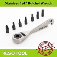 "RESQ 1/4"" Reversible Ratchet Torque Wrench w/ Bottle Opener - S/S Bicycle Tool"