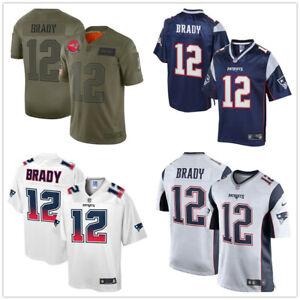 Herren NFL Tom Brady #12 New England Patriots American Fußball Jersey