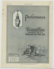 1919 Tungsten Spark Plugs Ad: Heavy Duty for Trucks - Marshalltown, Iowa
