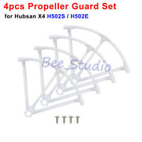 4pcs Wite Hubsan X4 H502S H502E RC Drone Parts Propeller Protective Guard Cover