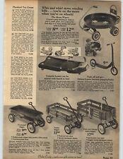 1969 PAPER AD Wagon Coaster Stake Pedal Motorcycle Motor Sound Krazy Kar Moon