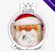 2018 Gibraltar Christmas 50p Uncoloured Presented in a CHRISTMAS DECORATION