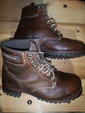 Caterpillar Sequoia brown leather Steel Toe boots uk 10 walking machines