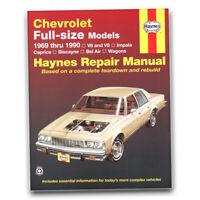 Haynes Repair Manual for 1969-1990 Chevrolet Caprice - Shop Service Garage gx