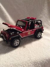 1/18 jeep rubicon brush fire truck 313 maisto nice details LOOSE display piece