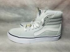 New Vans SK8 Hi Suede Ice Flow Blue Tint True White Leather Shoe Women Size 5.5