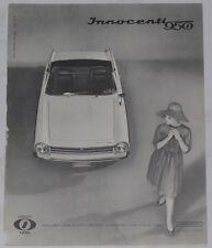 Advert Pubblicità 1962 INNOCENTI 950