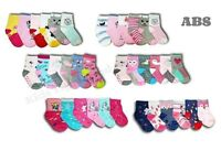Baby Girls ABS Anti Slip Non Slip Cotton Socks Size 6 Months to 3 Years 6 Pairs