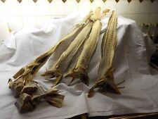 Albanische  Küche, hier Stockfisch aus Norwegen, getrockneter Kabeljau