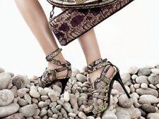 NEW Burberry Prorsum python skin sandals lime green heels, size 40-6,5