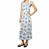 Ex Maine at Debenhams Women's Blue and White Summer Floral Maxi Dress RRP £35