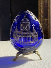 Russian Faberge Blue Glass Imperial Egg - No Reserve