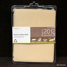 iPad 3rd, 4th* Gen - BEIGE WHITE Leather Folio Case   Simplism TR-SLSIPD12-BW/EN