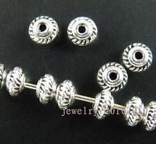 100pcs Tibetan Silver Little Bicone Spacer Beads 5x3mm ZN664