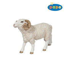 O22) Nuevo PAPO (51129) Oveja aries BOCK FIGURAS DE ANIMALES ANIMALES DE GRANJA
