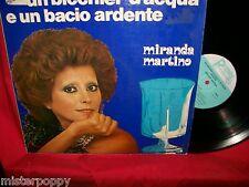 ELVIO MONTI MIRANDA MARTINO Un bicchier d'acqua e un bacio LP 1975 ITALY EX