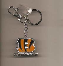 Cincinnati Bengals Logo Keychain with Lobster Claw Clip NFL New