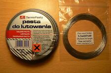 Electronic Solder Flux Paste 40g + 3m Fine low melting pt solder wire for 50p