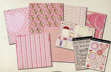 DaisyDs VALENTINE MAYBE BABY Scrapbook Kit paper stickers rubons diecuts