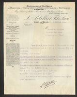 "VICHY (03) USINE de MACHINES AGRICOLES VITICOLES HORTICOLES ""L. PETILLAT"" 1921"