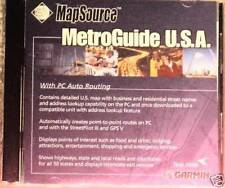 Garmin MapSource MetroGuide Usa v.4 includes trip & waypoint management function