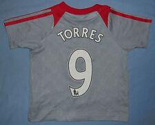 Liverpool FC / TORRES #9 2008-2009 Euro - ADIDAS KIDS Shirt / Jersey. Size: 86