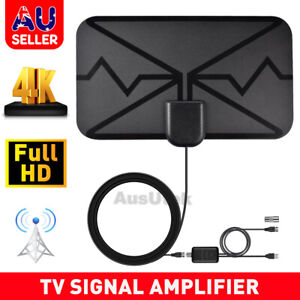 Indoor Digital HDTV Skywire Antenna with TV Aerial Amplifier 50 Mile Range Thin